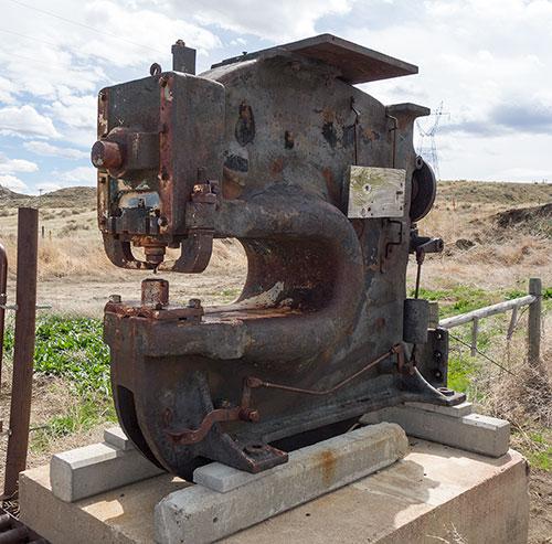 An antique machine press